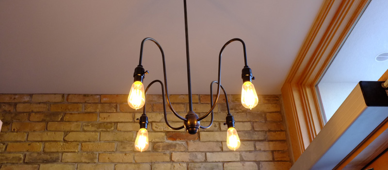 Custom Light Fixture Janet Lynns Bistro Kitchener